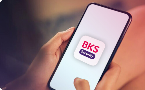 BKS Security App am Handy.
